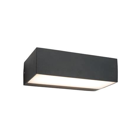 saxby 61338 kempton black outdoor led wall light