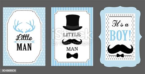 man birthday party baby shower party vector poster