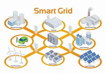 Grid Smart Vector Data Energy Illustration Power