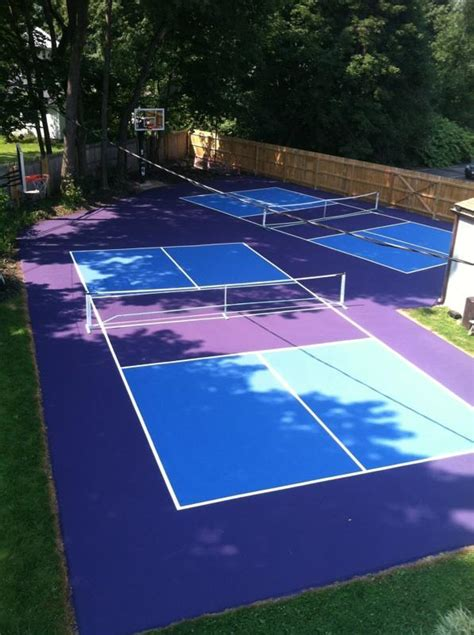 How Much Does A Backyard Basketball Court Cost by Pickleball Court Surfaces Backyard Court Builders
