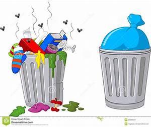 Cartoon trash can stock vector. Illustration of silver ...