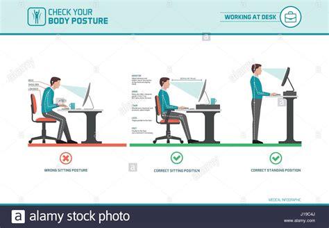 ergonomic sitting at desk correct sitting at desk posture ergonomics advices for
