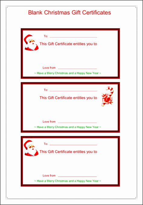 9 printable gift certificate template sletemplatess