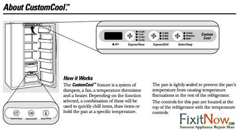 disassemble  customcool compartment   ge profile  arctica refrigerator samurai