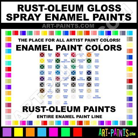 glossy spray paint enamel spray paint colors rust oleum