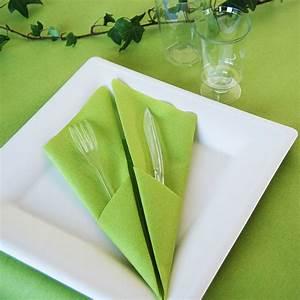 Pliage De Serviette En Papier Facile : pliage de serviette pochette couverts techniques de ~ Melissatoandfro.com Idées de Décoration