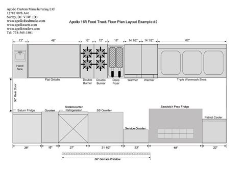Even if you only serve making the leap to a mobile coffee truck is a big deal. 16ft Food Truck Floor Plan Example #2 | Food truck ...