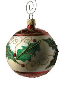 holly leaf ball oranament single traditional christmas ornaments by garden artisans llc