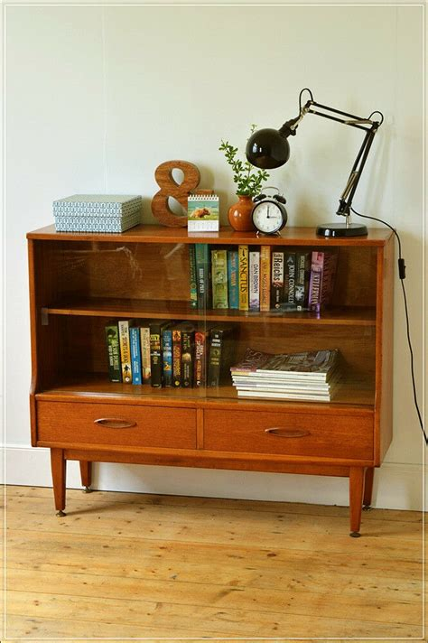 sideboard bookcase teak danish design display vintage