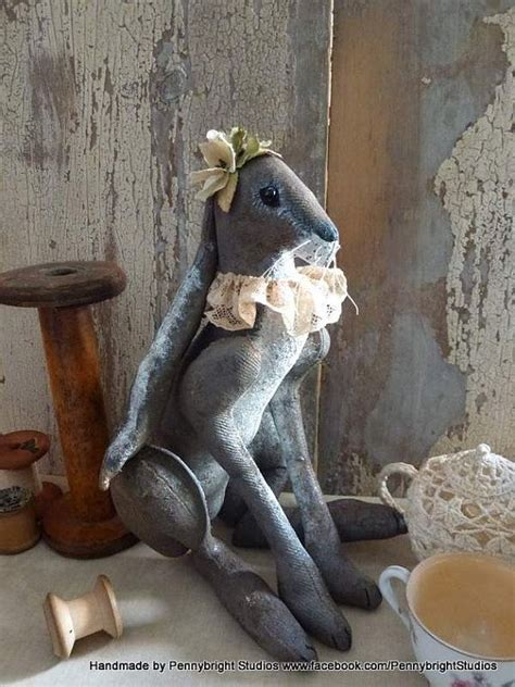 harriet hare vintage style soft sculpture hand painted