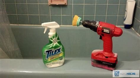 power tool bath and tile scrubbing homehacks