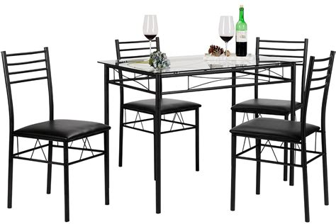 black table ls cheap dining table with 4 chairs black rochester overstock 4747