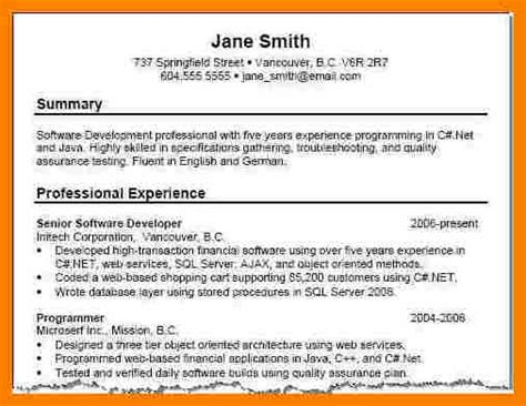 resume summary exles
