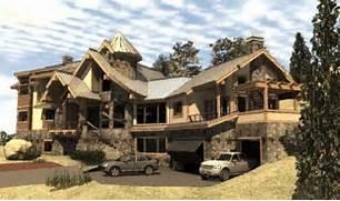 Luxury Log Home Designs by Avalon Log Homes Avalon Log Homes The Rivanna Luxury Log Home Plan