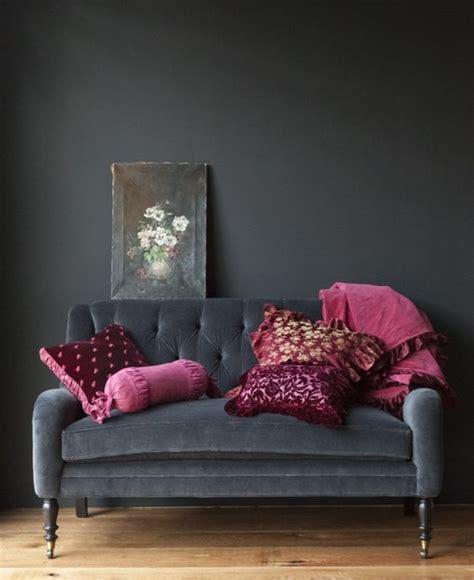 red and grey sofa dark decor vkvvisuals com blog