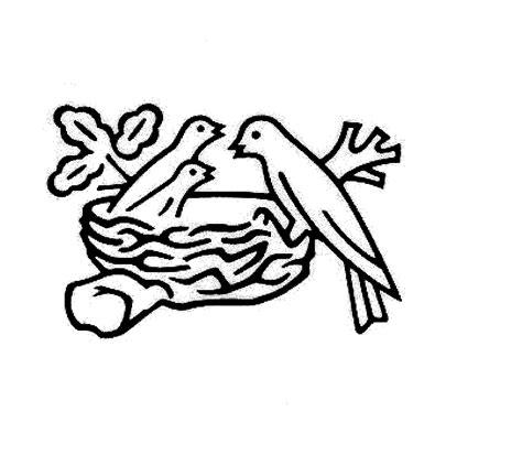 3 birds in nest on branch by societe des produits nestle