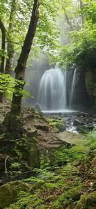 Wallpaper, England, Derbyshire, Peak, District, Waterfall
