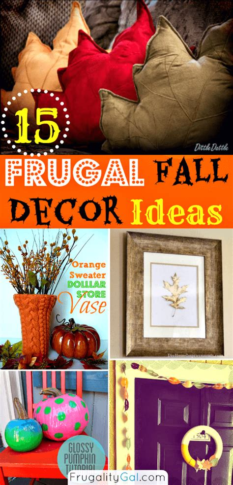 frugal fall decor ideas  tutorials