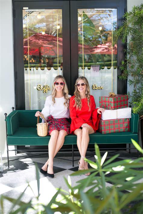 fashion holiday plaid  bell sleeves palm beach