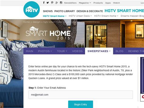 hgtv smart home giveaway 2015 sweepstakes sweepstakes