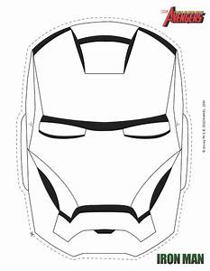 free thor mask coloring pages With iron man face mask template