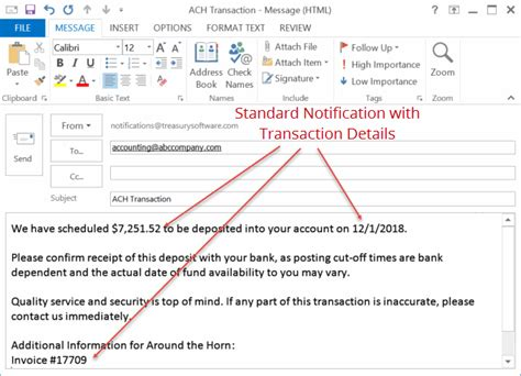ach remittance  email notification