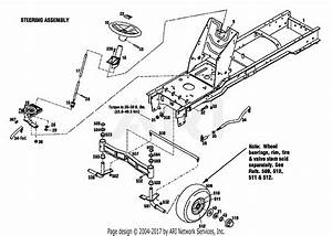 Troy Bilt 13039 16hp Hydro Garden Tractor  S  N 130390100101  Parts Diagram For Steering Assembly