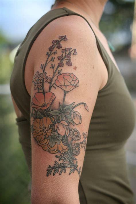 kirsten holliday botanical style  school tattoos