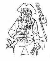 Blackbeard Pirates Coloring Caribbean Pages Captain Drawing Drawings Printable Getcolorings Getdrawings Popular sketch template