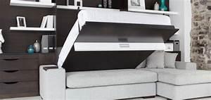 Armoire Pont De Lit : lit armoire escamotable ikea sofag ~ Teatrodelosmanantiales.com Idées de Décoration