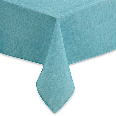 bed bath and beyond tablecloths buy mason 60 inch x 102 inch oblong tablecloth in aqua from bed bath beyond