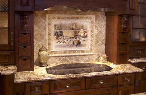 Classic Backsplash For Kitchen : Luxury Classic Kitchen Backsplash Design