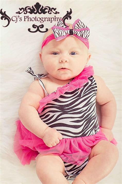month  baby girl photography idea cute outfit