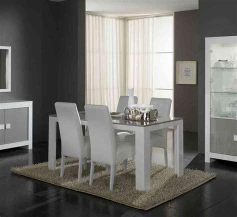 cuisine grise conforama table de salle à manger rectangulaire design laquée blanche et grise ancone ii buffet bahut