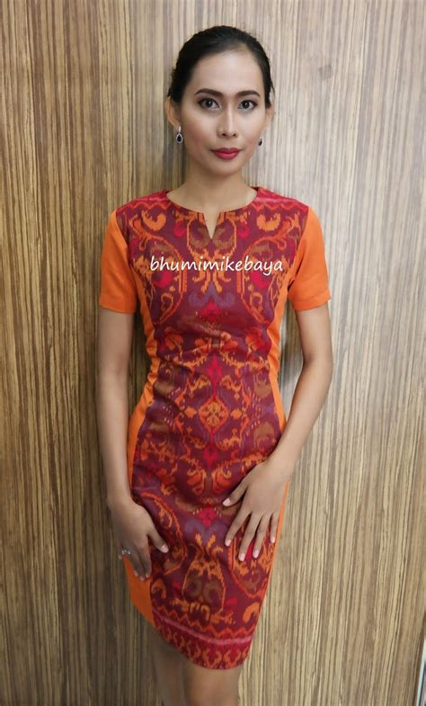 berbagai model dress endek koleksi bhumimikebaya model