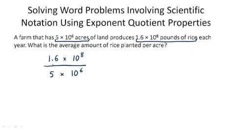 Scientific Notation Multiplication And Division Problems  8th Grade Math Scientific Notation