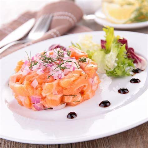 sardine cuisine recette tartare de saumon frais à l échalote facile rapide