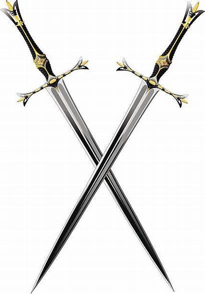 Swords Sword Crossed Vector Clipart Ornate Clip