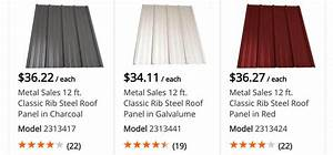 metal roofing prices at lowes home depot corrugated With 18 foot metal roofing