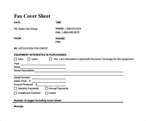 13+ Sample Business Fax Cover Sheets
