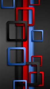 Wallpaper Full HD for Mobile with Red Blue and Black Box ...