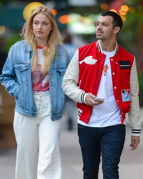 SOPHIE TURNER and Joe Jonas Out for Evening Walk in New ...