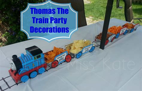 Thomas The Train Party Decorations  Little Miss Kate