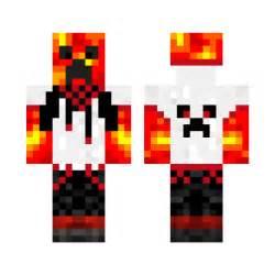 Cool Minecraft Lava Creeper Skin