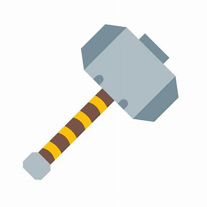 Thor Hammer Vector Icon Getdrawings Detection Water