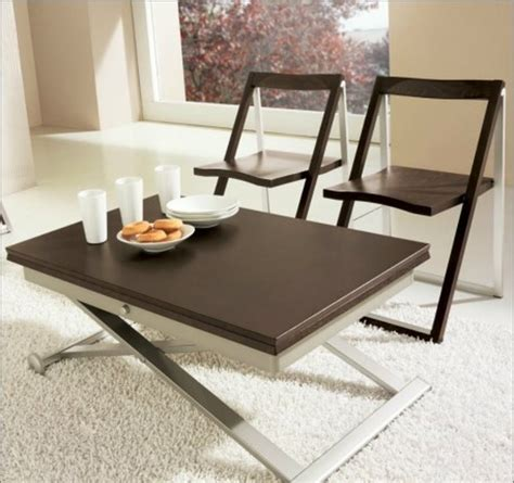 Coffee tables that transform into dining tables. Castro Convertible Coffee Table Design | Roy Home Design