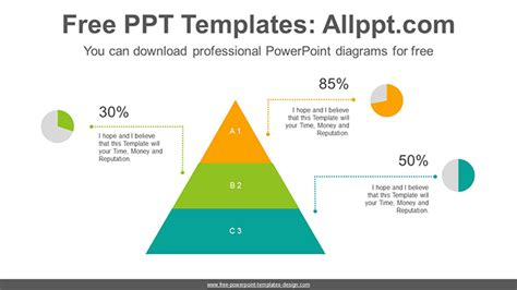Pyramid Pie Chart Powerpoint Diagram Template