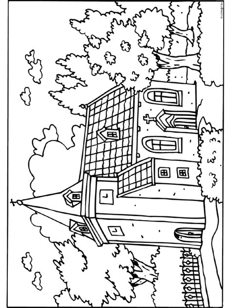 Kleurplaat Kerk by Kleurplaat Kerk Gebouw Kleurplaten Nl