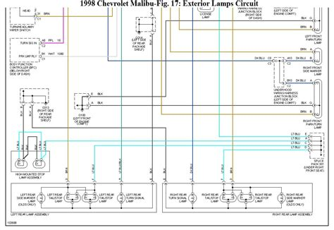 99 Chevy Malibu Wiring Diagram by The Rear Brake Lights Do Not Come On When The Brake Pedal