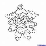 Clown Coloring Scary Drawings Clowns Draw Evil Printable Pennywise Creepy Fish Drawing Killer Krusty Skull Monsters Colour Wicked Step Clipart sketch template